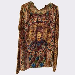 Dolce Gabbana Byzantine collection silk blouse